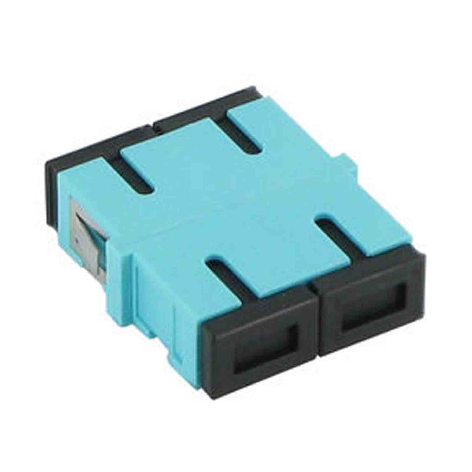 Adapter SC/UPC, MM, DUPLEX (aqua adapter)