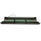 "Patch panel STP 19"" kat.5e, 24 porty z listwą"