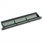 "Patch panel STP 19"" kat.6, 24 porty z listwą"