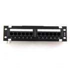 "Patch panel UTP 10"" kat.5e, 12 portów"