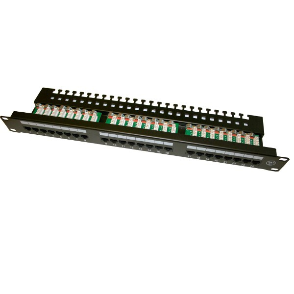 "Patch panel UTP 19"" kat.5e, 24 porty z listwą :: wisp.pl"