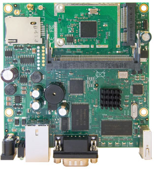 RouterBoard RB411U, 1x LAN, 1x MiniPCI, 32MB SD-RAM i 64MB FLASH