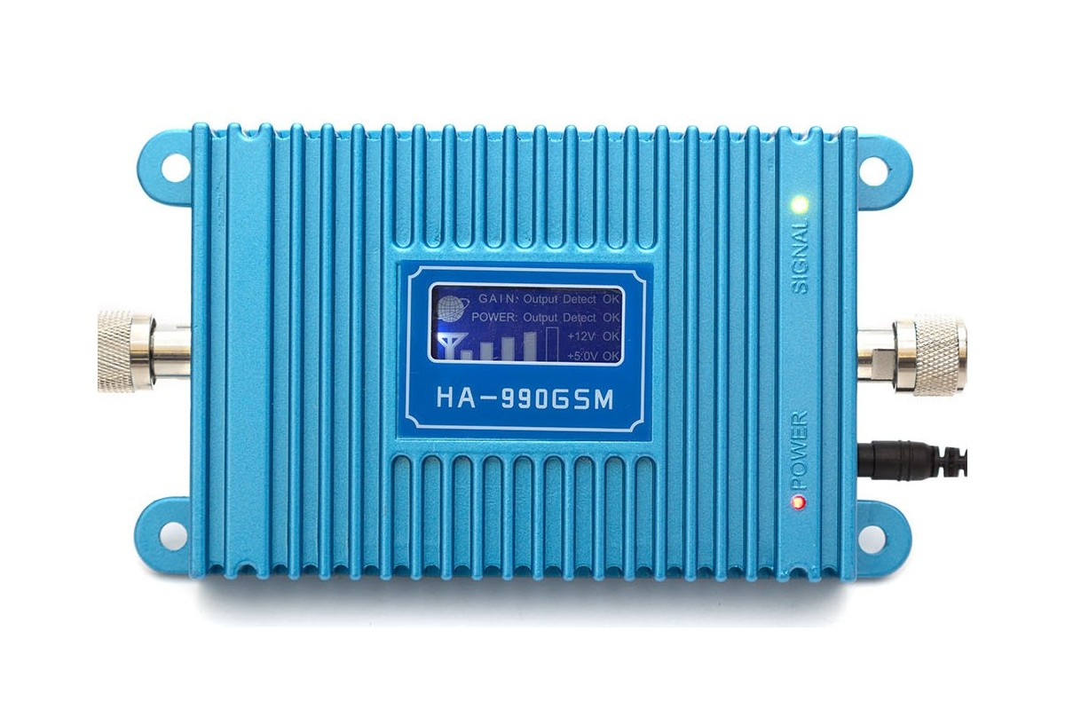 Wzmacniacz (repeater) GSM BLUE LCD600 do 600 m2