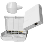 MikroTik Cloud Router Switch CRS318-16P-2S+OUT (NetPower 16P), LDF LTE6 kit (RBLDFR&R11e-LTE6), Gigabit PoE Injector (GPEN21)