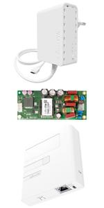 MikroTik PWR-Line PL7400, Gigabit PoE Injector GPEN11, PW48V-12V85W, Gigabit Ethernet Surge Protector RBGESP