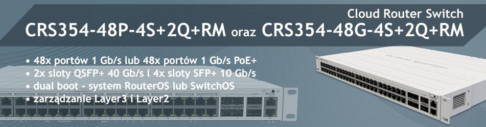 MikroTik Cloud Router Switch CRS CRS354-48G-4S+2Q+RM & CRS354-48P-4S+2Q+RM :: Wisp.pl