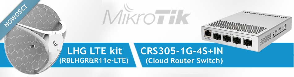 MikroTik LHG LTE kit Cloud Router Switch CRS305-1G-4S+IN :: Wisp.pl