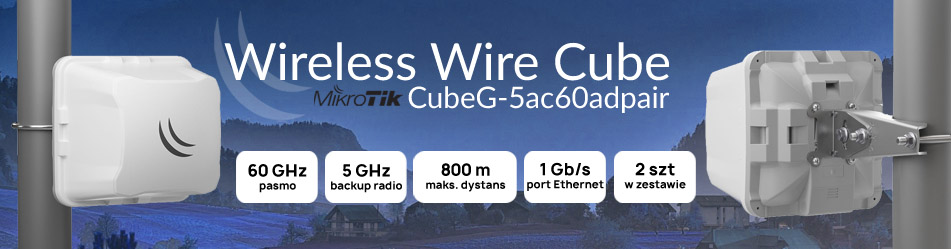 MikroTik Wireless Wire Cube (CubeG-5ac60adpair) :: Wisp.pl