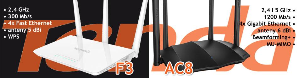 Tenda F3 i Tenda AC8 :: Wisp.pl